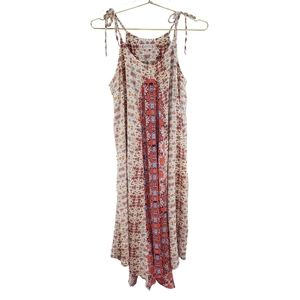 NWT Nanette Lepore Boho Orange Floral Print Dress